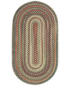 Capel Area Rug, Bear Creek Oval Braid 0980-150 Wheat 2' x 3'