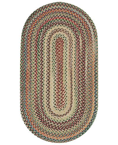 Capel Area Rug, Bear Creek Oval Braid 0980-150 Wheat 5' x 8'