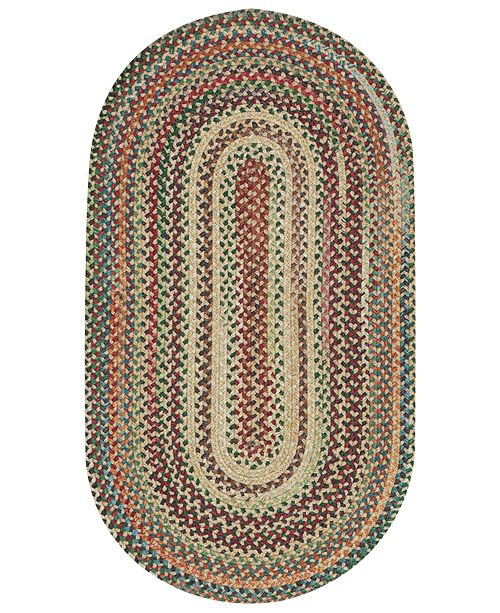 Capel Area Rug, Bear Creek Oval Braid 0980-150 Wheat 3' x 5'