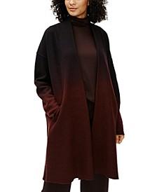 Ombré High-Collar Coat