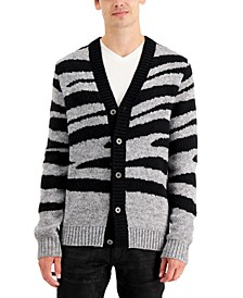 INC Men's Zebra Cardigan, Created for Macy's