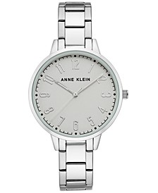 Women's Silver-Tone Bracelet Watch 38mm