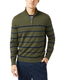 Men's Navtech Striped Quarter-Zip Sweater