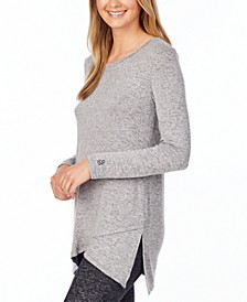 Soft Knit Crossover Tunic Top