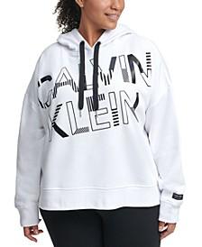 Plus Size Graphic Hooded Sweatshirt