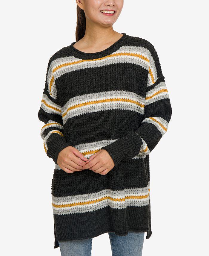 Hippie Rose - Juniors' Tunic Sweater
