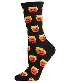 Women's Trumpkin Holiday Halloween Crew Sock