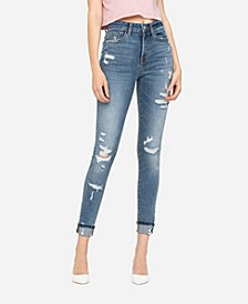 Women's High Rise Distressed Skinny Ankle Jeans