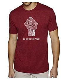 Men's Premium Word Art No Justice No Peace T-shirt