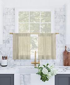 "Slub Textured Cafe Curtain Pair, 56"" x 36"""
