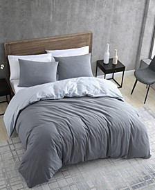 Miro Solid Excel Duvet Cover Set, Twin