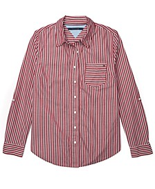 Striped Adaptive Button-Front Shirt
