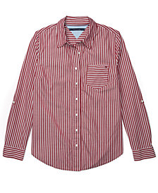 Tommy Hilfiger Striped Adaptive Button-Front Shirt