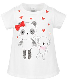 Toddler Girls Bear Friends Cotton T-Shirt, Created for Macy's