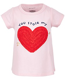 Baby Girls Ruched Heart Cotton T-Shirt, Created for Macy's