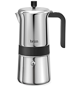 Stainless Steel 6-Cup Stovetop Moka Maker