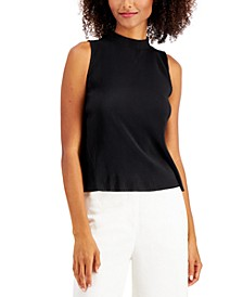 Petite High-Neck Knit Tank Top, Created for Macy's