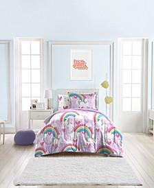 Unicorn Rainbow 5-Piece Twin Bedding Set