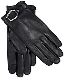 Leather Bridle-Belt Touch Gloves