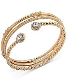 Gold-Tone 3-Pc. Set Stone Bracelets