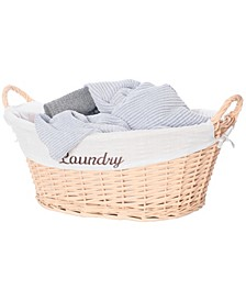 Willow Laundry Hamper Basket with Liner and Side Handles