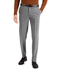 Hugo Boss Men's Classic-Fit Silver Plaid Suit Pants