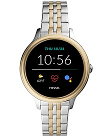 Women's Gen 5E Two-Tone Stainless Steel Touchscreen Smart Watch 42mm