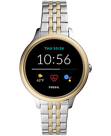 Fossil Women's Gen 5E Two-Tone Stainless Steel Touchscreen Smart Watch 42mm