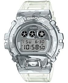 Men's Digital Clear Resin Strap Watch 49.7mm