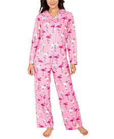Flamingo-Print Pajama Set