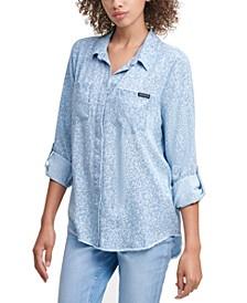 Leopard Button Front Shirt