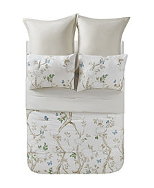Dream Home Ava Floral 6 Piece Comforter Set, Full/Queen