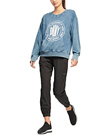 Sport Acid-Washed Logo Jersey Sweatshirt