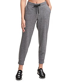 Sport Metallic-Logo Fleece Jogger Pants