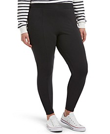 Plus Size High-Waisted Black Out Ponté-Knit Leggings