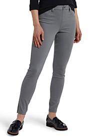 High-Waist Denim-Look Leggings