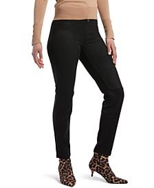 Microsuede Straight-Leg Leggings