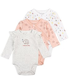 Baby Girl 3pk LS Bodysuit
