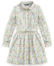 Calvin Klein Big Girl Floral Fit-and-Flare Dress