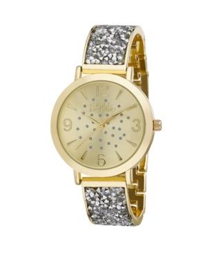 Women's Gold-Tone Alloy Bracelet Glitz Watch
