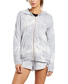 Juniors' Lil Zip Fleece Zip-Up Hoodie