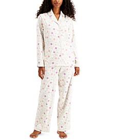 Printed Fleece Pajama Set, Created for Macy's