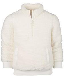 Big Girls Sherpa 1/4-Zip Jacket, Created for Macy's