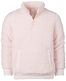 Little Girls Sherpa Quarter-Zip Jacket, Created for Macy's