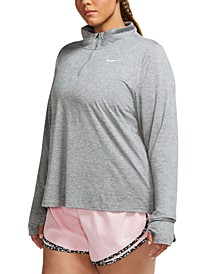 Element Plus Size Women's Half-Zip Running Top