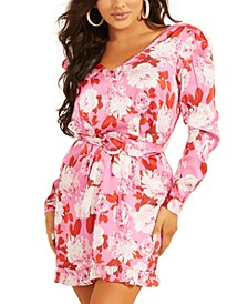 Leena Belted Floral-Print Dress