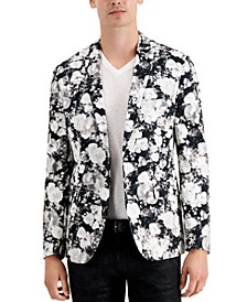 INC Men's Slim-Fit Floral Print Blazer, Created for Macy's