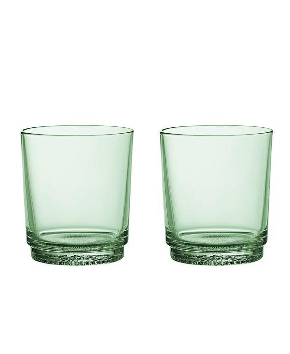 Villeroy & Boch It's My Match Water Glass, Mineral Green Set of 2