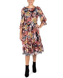 Ruffled Tiered Midi Dress