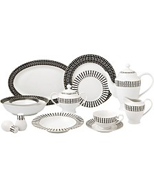 New Bone China 57 Piece Dinnerware Set- Service for 8